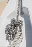 De ketting van het bootanker Royalty-vrije Stock Fotografie