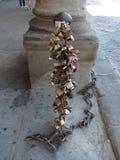 De ketting van het liefdeslot in Florence Stock Foto's