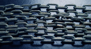 De kettingen van het staal Royalty-vrije Stock Afbeeldingen