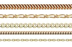 De kettingen verbinden sterkteverbinding het vector naadloze patroon van metaal delen en de beschermings sterk teken van het ijze Royalty-vrije Stock Foto's