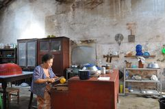 In de keuken Stock Fotografie