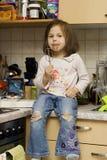 In de keuken Stock Foto