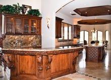De keuken en de staaf van het huis Stock Fotografie