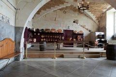 De keuken in Valencay-kasteel royalty-vrije stock fotografie