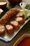 De keuken van Chinesre - het broodje van de Lente stock foto