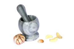 De keuken van de familie - marmeren mortier Royalty-vrije Stock Fotografie