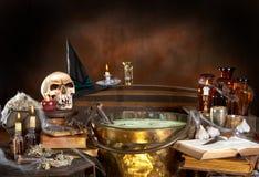 De keuken van de heks Stock Afbeeldingen