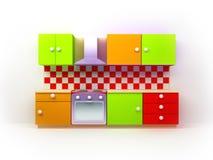 De keuken van de kleur vector illustratie