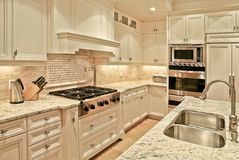 De keuken van de luxe royalty-vrije stock foto's