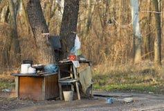 De keuken van de zomer van daklozen stock foto