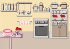 De keuken van het kabinet Stock Fotografie