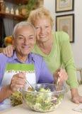 De keuken van het paar. Royalty-vrije Stock Foto