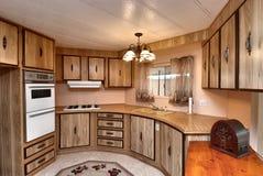 De keuken van het sta-caravan Royalty-vrije Stock Afbeeldingen