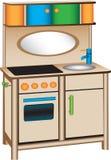 De keuken van het stuk speelgoed vector illustratie