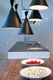 De keuken van lampen royalty-vrije stock afbeeldingen