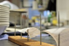 De keukenscène van het restaurant Stock Afbeelding