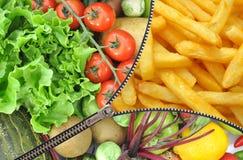 De keus van de dieetlevensstijl Stock Afbeeldingen