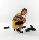 De keus van het schoeisel Stock Foto's