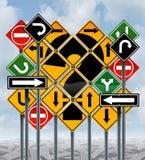 De Keuzen van de richting stock illustratie