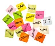 De keuzen die van het leven - het besteden besluiten nemen stock afbeeldingen