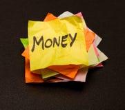 De keuzen van het leven - geld Stock Afbeeldingen