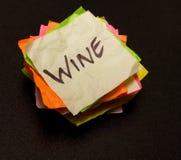 De keuzen van het leven - zakgeld op wijn Royalty-vrije Stock Foto's
