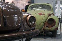 De Kever van VW, nieuw en geroest Stock Afbeelding