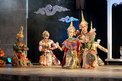 De khon-Thaise dans van het cultuurdrama toont Royalty-vrije Stock Foto