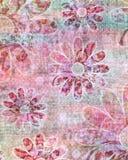 De kiezelachtige Tropische Boheemse Achtergrond van het Plakboek van het Tapijtwerk Stock Afbeelding