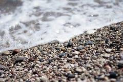 De kiezelstenen op het strand Royalty-vrije Stock Foto's