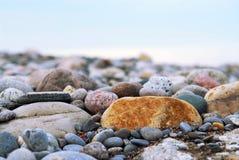 De kiezelstenen van het strand Stock Afbeeldingen
