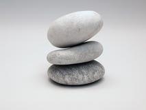 De Kiezelstenen van Zen Stock Afbeeldingen