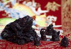 De kikker van China en vijf buddhasmonniken Royalty-vrije Stock Afbeeldingen