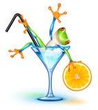 De Kikker van de cocktail stock illustratie