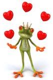 De kikker van de pret met liefde royalty-vrije illustratie