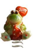 De kikker van de valentijnskaart Stock Foto's