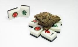 De kikker van het geld en mahjong royalty-vrije stock afbeelding