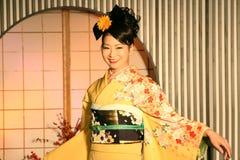 De kimono toont in Kyoto Stock Fotografie