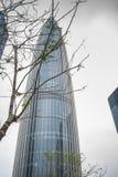 De Kina resurserna står högt i dagtid som colloquially är bekant som vårbambu, är en 392 meter 1286 1 ft supertall skyskrapa in royaltyfri fotografi