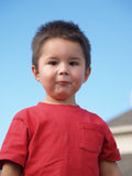 De kind-dwaze Jongen van het Gezicht Stock Afbeeldingen