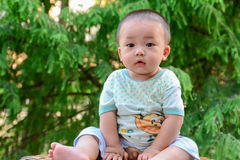 De kinderen ï ¼ ˆAsian China yellowï ¼ ‰ van de babyjongen Stock Afbeelding