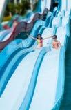 De kinderen in aqua parkeren Royalty-vrije Stock Afbeelding