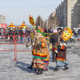 De kinderen dragen het beeld van de zon Royalty-vrije Stock Foto