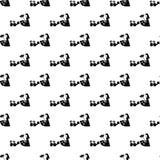 de kinderen geven giften aan mammapictogram in Patroonstijl stock illustratie