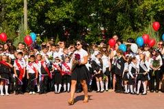 De kinderen keren naar school terug Royalty-vrije Stock Foto's