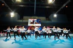 De kinderen nemen bij de Internationale MegaDance-concurrentie deel stock foto
