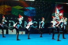 De kinderen nemen bij de Internationale MegaDance-concurrentie deel stock foto's