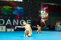 De kinderen nemen bij de Internationale MegaDance-concurrentie deel royalty-vrije stock afbeelding