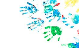 De kinderen overhandigen het schilderen speelplaats Royalty-vrije Stock Afbeelding