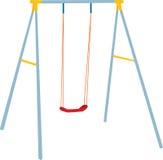 De kinderen slingeren reeks, openluchtspel. Vector Illustratie